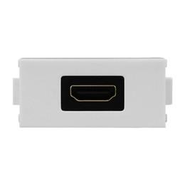 Presa di corrente standard online-Bianco Breve HDMI Home Accessori LY-024 Elbow HDMI Socket LY-022 HDMI Modulo per la 86 parete Panel Piastra