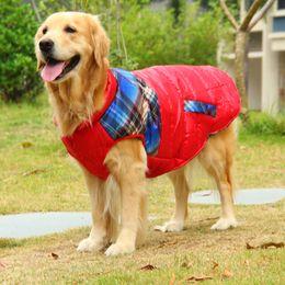 Grandi giacche per cani invernali online-Big Dog Coat Large Dog Clothes Inverno Samoye golden retriever Husky Hound Shepherd Dog Jacket Costume