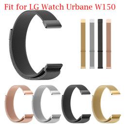 2019 lg smart band LG Watch Urbane W150 Milanese Magnetic Loop Stainless Steel Smart Watch Band Women Clock reloj mujer Elegant скидка lg smart band
