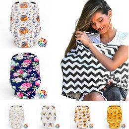 Wholesale Pram Covers - Baby Car Seat Cover Multi Color Stroller Pram Blanket Multi-Use Stretchy Breastfeed Nursing Covers Buggy Cover