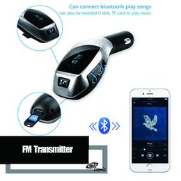 Argentina X5 manos libres Bluetooth Transmisor FM Kit de coche reproductor de música MP3 Adaptador de radio Trabajo con tarjeta TF U Disk para iPhone Smartphone Suministro