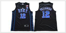 Wholesale college sport teams - Duke Blue Devils #12 Zion Williamson College Mens Vintage Basketball Team Jerseys Sports Uniforms Shirts Stitched Embroidery Size S-XXXL