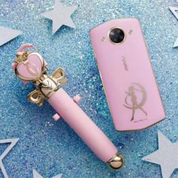 fotos de fisheye Desconto Meitu MA1736 Edição Sailor Moon Selfie Vara Handheld Bonito Monopé para iPhone X 7 8 Do Telefone Móvel