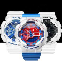 AAA роскошные мужские часы G стиль часы LED погружение военные часы мальчики женщины шок наручные часы Мужские спортивные часы оригинальная коробка cheap s shock watch original от Поставщики s шок часы оригинал