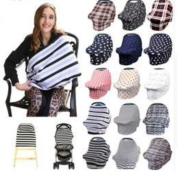Wholesale Baby Car Seats Covers - 34 design Baby Car Seat Cover Toddler Canpony Nursing Cover Multi-Use Stretehy Infinity Scarf Breastfeeding Shipping Car cover KKA5021