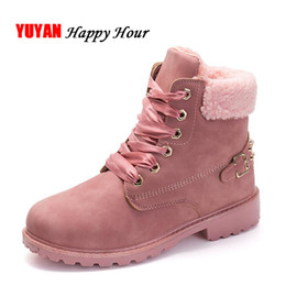 Wholesale Shoes For Cold - 2017 Winter Shoes Women Snow Boots Thick Plush Warm Shoes for Cold Winter Fashion Women's Boots Ladies Ankle Botas Pink ZH2448