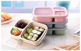 2019 japão saco de plástico Hot Sale 4 cores 3 Grade Almoço caixas com tampa de microondas Fruit Food Caixa de armazenamento removem o recipiente