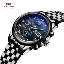Wholesale Luxury Hand Watch Sport Men - TEVISE Men Watch Top Brand Luxury Automatic Mechanical Watch Men Sport Waterproof Luminous Moon Prase Watch Relogio Masculino