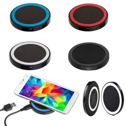 Wholesale Iphone Charger Dhl - Free DHL Mini Qi Wireless Charger USB Charging Pad for iphone 8 plus iphone X