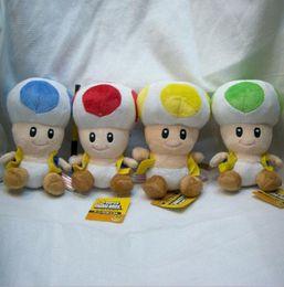 Funghi ripieni online-17 cm / 7 pollici Super Mario peluche giocattoli Super Mario Mushroom testa di peluche per bambino regalo di Natale KKA3615