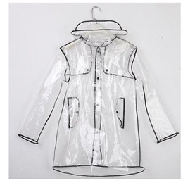 raincoats for men Coupons - Transparent Raincoats For Men Women Rain Jacket Eco Friendly EVA Poncho For Outdoor Hiking Travel Camping Equipment L M Size 25 5lr2 XZ