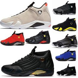 Wholesale cool yellow - basketball shoes 14 mens Trainers red yellow Green white Desert Sand DMP black Cool Grey mens sneakers sport shoes size 8-13