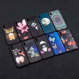 Pour Galaxy Note 9 Note9 Relief Animal Papillon Silicone Pour Iphone XR XS MAX Couverture Fleur Souple TPU Hibou Panda Gel De Bande Dessinée Coque ? partir de fabricateur