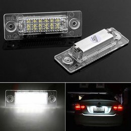 Wholesale volkswagen touran - 2x 18 LED License Plate Number Lights Car Lamp For VW Golf Jetta Caddy Touran T