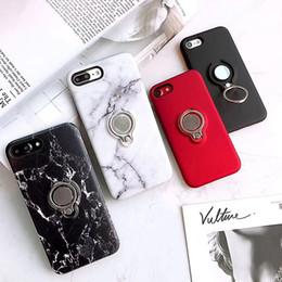 soporte colorido Rebajas Marble Kickstand Funda para teléfono para iPhone X 8 7 6S 6 Plus Soporte para soporte de imán para coche de colores Slim Slim TPU contraportada