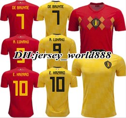 TOP QUALITY 2018 World Cup Belgium Home red Soccer jersey 18 19 away LUKAKU  HAZARD VERMAELEN KOMPANY DE BRUYNE 2019 Football shirt d2c3a36e4