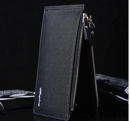 Wholesale Cheap Vintage Clutches - New cheap mens credit card wallet mens button wallet cell phone pocket thin double zipper leather wallet