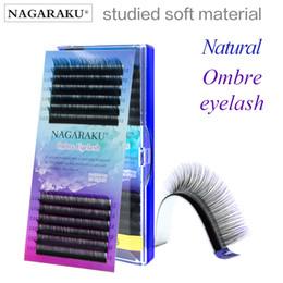 extensions de cils c 12mm Promotion NAGARAKU Ombre Couleur Bleu violet Couleur dégradée Cils individuels Extensions de cils 0.07C Premium faux doux vison 8-12mm