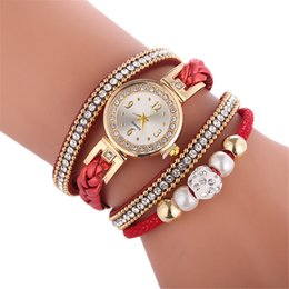 Женские круглые часы онлайн-Wristwatch bracelets female lady Beautiful and Fashion style Bracelet Watch Ladies Watches Round shape watch special gifts girl