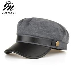 Cappuccio gril online-Joymay marca 2018 nuove donne cappelli militari di alta qualità moda gril bonnet caps inverno caldo fibbie per cinture berretto br024