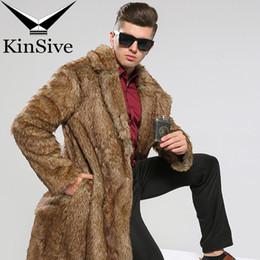 86b6d79de65 Abrigo de piel sintética de lujo para hombre Chaquetas de invierno Largo de  cuero de imitación Trench Coat Marca de ropa Hombres Abrigos Outwear  Chaqueta ...