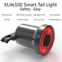 bike brake light rear Coupons - Mini Bike Brake Light Intelligent Sensory Bicycle Tail Rear Light USB Charging Bike Taillight Lamp