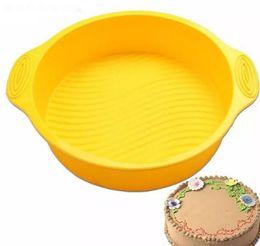 einweg-kuchen dosen Rabatt Silikon Kuchenform Runde Backformen Lebensmittelqualität Hochtemperaturbeständige Runde Kuchenform Backform Umweltfreundliche Backformen