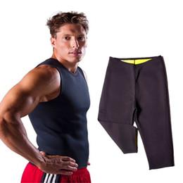 Abiti da sauna online-Hot Sweat Body Shapers Vita Trainer Dimagrante Corsetto Top Vest Allenamento Bruciatore di grassi Hot Thermo Sauna Pantaloni Perdita di peso Pantaloncini Abiti