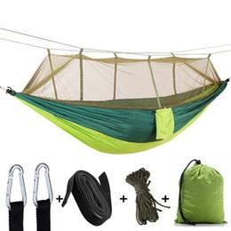 swing all'aperto per il campeggio Sconti Amaca esterna Zanzariera Letto da campeggio 2 persone Hanging Bed Camping Caccia Hamac Altalene da giardino 12 colori opzionale YW1008