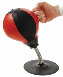 Canada Cuir Stress Buster Punching Ball Set de sac de réflexe à aspiration robuste Adults Kids Home Office Offre