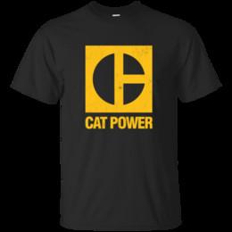 Canada Puissance de chat, machine, construction, équipement, excavatrice, pelle rétro, bouteur, cate 100% coton t-shirt à manches courtes Offre