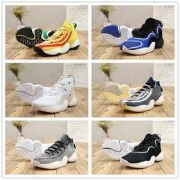 Wholesale Woven Shoes For Men - 2018 Hot Sale Crazy BYW 1 Pharrell Williams x Boost Woven Casual Shoes for High quality Black White Yellow Fashion Sports Sneaker 40-46