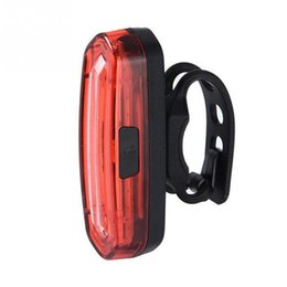 Wholesale Accessories Mtb Lamp - Bicycle Taillight Accessories USB Rechargeable Cob Bicycle MTB Bike Taillight 4Modes Rear LED Light Lamp