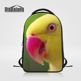 2019 zaini piuttosto Pretty Parrot Laptop Zaino per Notebook da 14 pollici Stampe animalier Borse da scuola per bambini Donna Uomo Hip Hop Rucksack College Schoolbags Rugtas zaini piuttosto economici