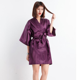 a54c678c2b Sexy Chinese Bride Wedding Robe 2018 New Women Faux Silk Kimono Bathrobe  Gown Sexy NightDress Mini Nightgown Sleepwear M-XXL