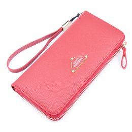 Wholesale Korean Style Casual Large Handbags - New All-match Fashion Ladies Long Purse Femal Multifunction Zipper Wallet Women Large Capacity Handbags Phone Bags Wholesale