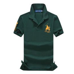 Wholesale Dropship Discount - 2018 discounted PoloShirt men Short Sleeve T shirt Brand London New York Chicago polo shirt men Dropship Cheap High Quality Free Shipping