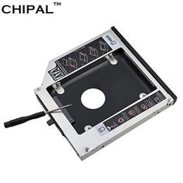 lenovo caso alumínio Desconto CHIPAL Alumínio SATA III Segundo HDD Caddy 12.7mm para 2.5 Polegada Caso SSD HDD Recinto para Lenovo ThinkPad T420 T430 T520 T530 ODD
