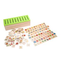 Classificazione in legno Scatola dei giocattoli Montessori Kids Pattern Matching Classificazione Giocattolo Geometria educativa Animale da frutto Apprendimento da