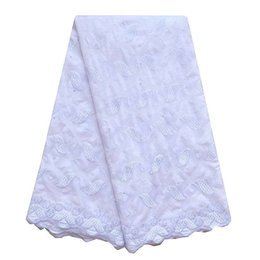 Wholesale African Swiss Voile Lace White - WorthSJLH Soft Swiss Polish Lace Fabric For Men Embroidered Eyelet Polish Voile Lace Material High Quality African Lace Fabric LF902