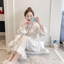 311a550343 On-Sale Autumn 2 color Gauze Lovely Cute Sweet Girl Princess Pajamas for  Women