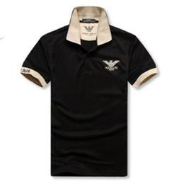мужчины плюс размер поло Скидка Мужские классические рубашки поло футболки горячие продажа лето свободные тройники мужские с коротким рукавом вышивка Поло тройники высокое качество футболка плюс размер M-2XL