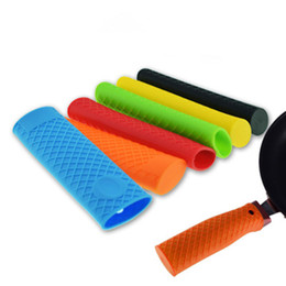 negozio di pentole Sconti Silicone Pot Pan Anti-skid Maniglia Supporto Isolamento Hot Sleeve Cover Grip Guanti ad alta temperatura in silicone shopping veloce jc-264