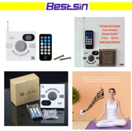 Wholesale Center Design - Wholesale- Hot Sale Portable Wall Speaker Switch Design AUX 3.5mm Multi-functional Stereo With FM TF Card U Disk Time Display Headphone