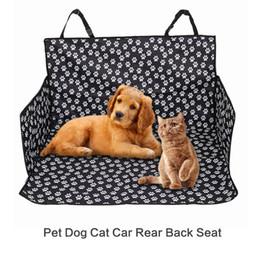 nouvelle arrivée chien chien chat voiture arrière siège arrière couverture du transporteur couverture couverture hamac coussin protecteur polyester imperméable à l'eau tapis réglable ceinture ? partir de fabricateur
