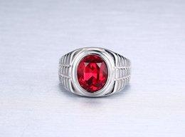 Wholesale micro trend titanium - European American Style Men's titanium rings micro zircons fashion trends men's rings stainless steel men's jewelry
