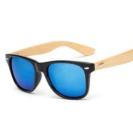 Wholesale color frame clear glasses wholesale - Retro Wood Sunglasses Men Bamboo Sunglass Women Brand Design Sport Goggles Gold Mirror Sun Glasses Shades