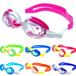 Красочные очки онлайн-Colorful Adjustable Children Kids Waterproof Silicone Anti Fog UV Shield Swimming Glasses Goggles Eyewear Eyeglasses with Box
