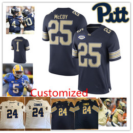 Wholesale Lewis Black - Custom NCAA James Conner College Football Jersey LeSean McCoy Larry Fitzgerald Q.Henderson Dion Lewis Darrelle Revis Pitt Panthers Jersey