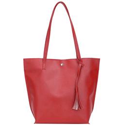 Bolso de hombro del totalizador del bolso de la borla del cuero de imitación de las mujeres de gran capacidad de la moda desde fabricantes